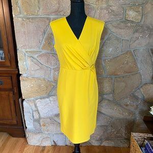 Glamour NWT wrap style yellow sleeveless d…
